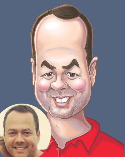 digitally drawn caricatures