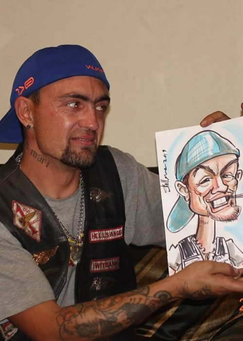 Live colour caricature drawing