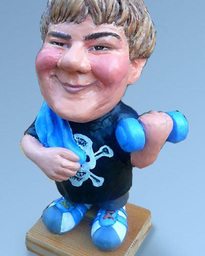 Caricature figurine