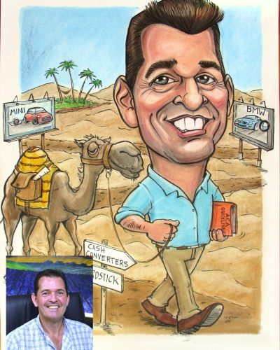 Commissioned caricature